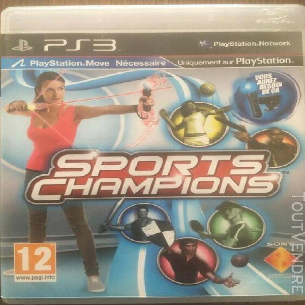 Jeux ps3 (sports champions) a compétition a l'etat pur