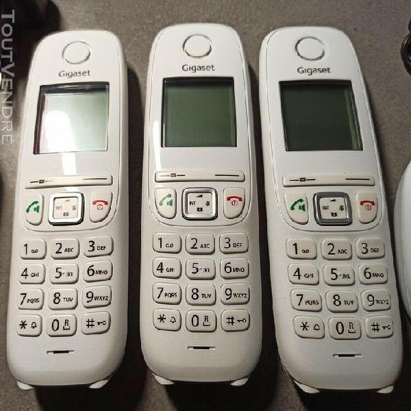 Telephone sans fil dect siemens gigaset as405a trio (blanc)