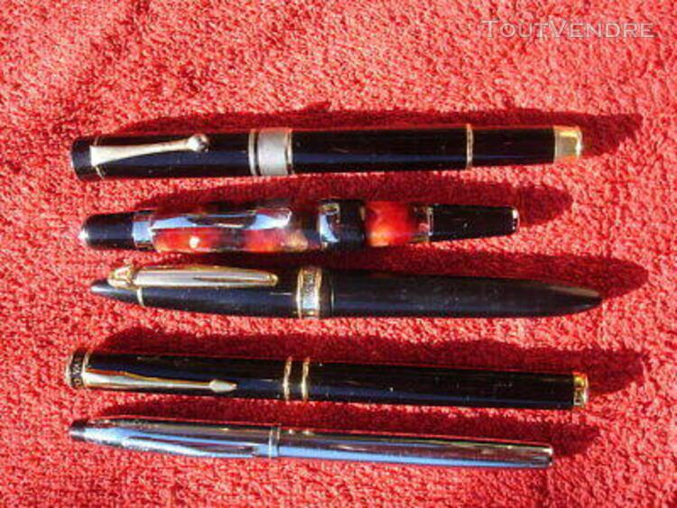 Lot 5 stylo plume fountain pen marques diverses