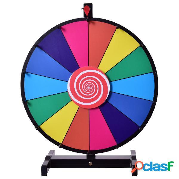 Roue de la fortune 18 pouce roue de loterie jeux de société avec stylo effaçable φ 60cm