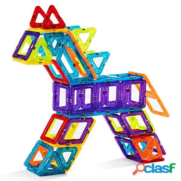 Costway bloc de construction magnétique enfant 106 pièces mini jeux construction aimanté