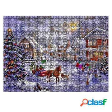 Christmas jigsaw puzzle painting - 1000psc - merry christmas