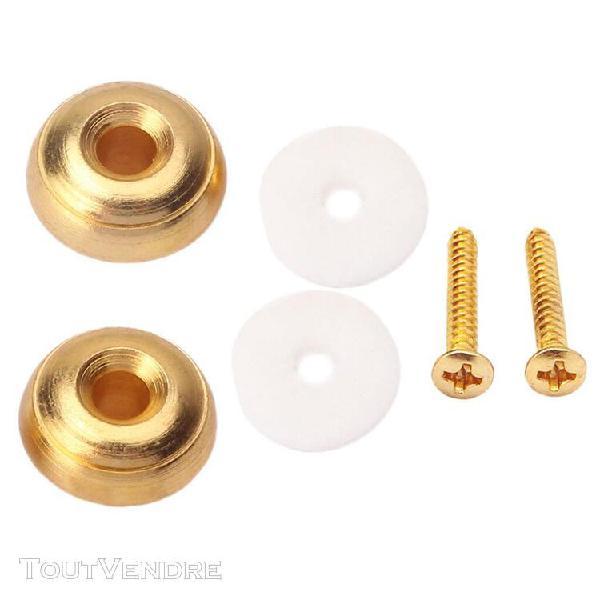 2pcs boutons de sangle guitare forme champignon + 2pcs entre