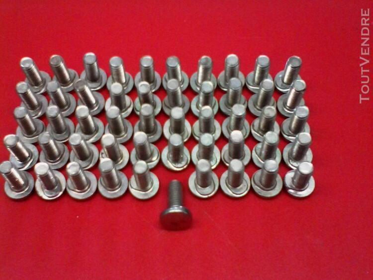 30 boulons tète ronde m6 6x17mm collet ovale bloquant