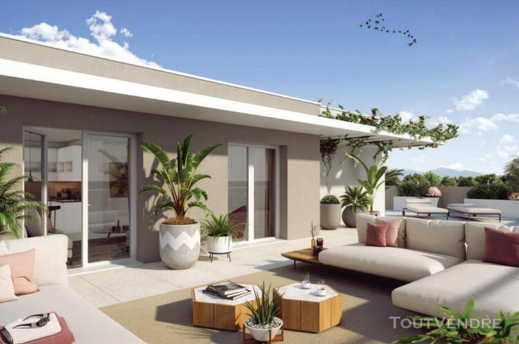 Appartement t4 de 88 m² + 3 terrasses d'un total de 75 m²