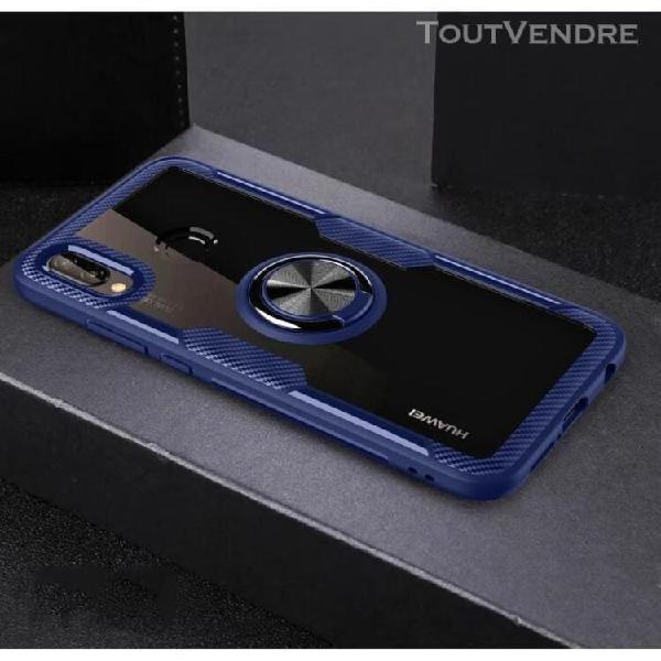 Huawei p20 lite coque antichoc coloré bordure souple tpu et