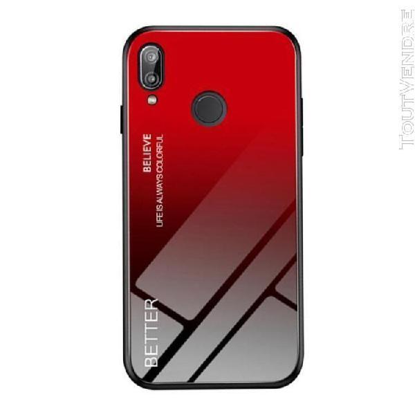 Huawei p20 lite coque verre trempé arrière et tpu souple