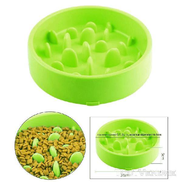 Pet anti d'étouffement alimentaire bol, chiens chats