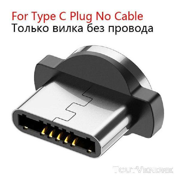 Uslion 1m 2m led câble usb magnétique type c câble et