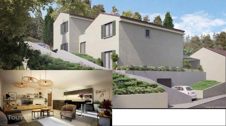 Villa t4 r+1 de 110 m² avec garage et jardin à simiane