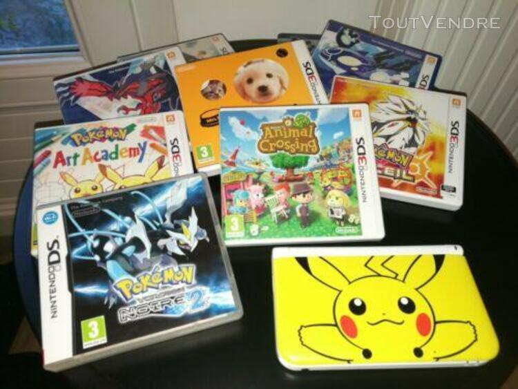 Nintendo 3ds xl pikachu + lot jeux