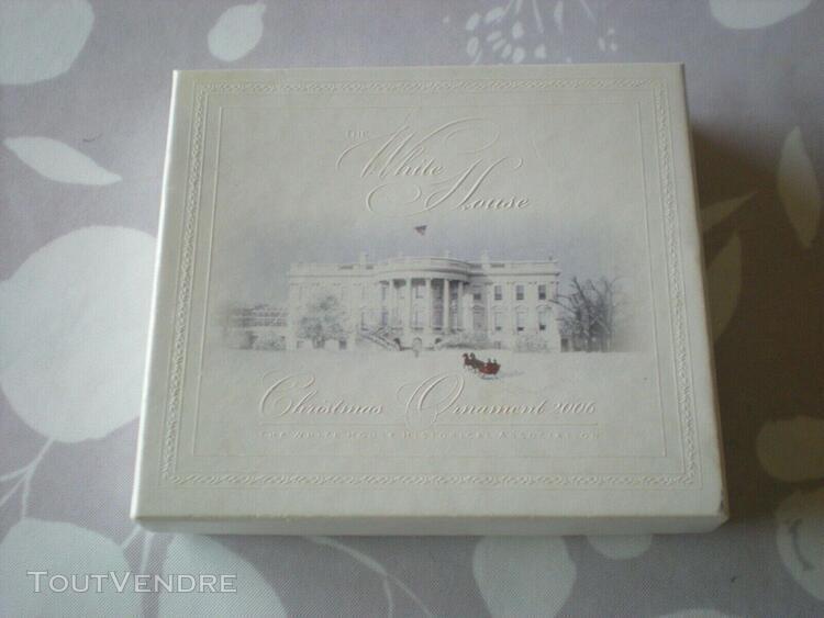 "Ornement de noel""maison blanche"" ""the white house historical"