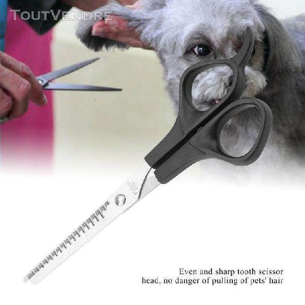 Animaux chien chat toilettage cheveux amincissant ciseaux de