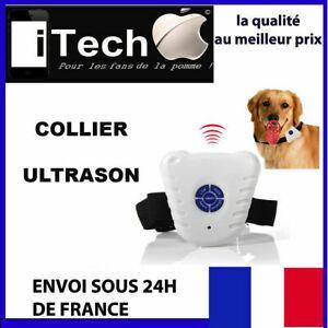 Collier chien anti aboiement ultra sons aide dressage