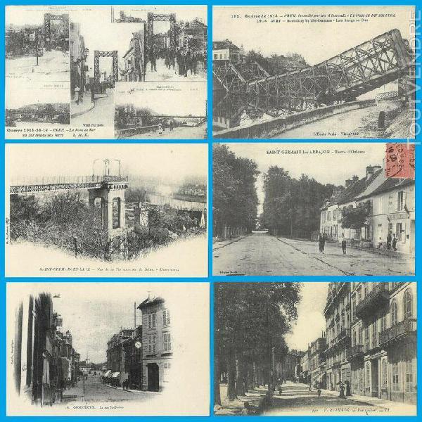 Lot de 40 cartes postales d'île de france- reproduction de