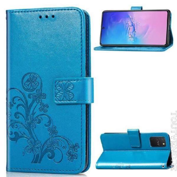 Samsung a91 housse portefeuille étui housse flip premium pu