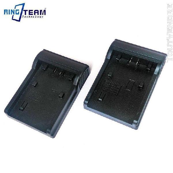 2x non lcd chargeur berceau plaque pour batterie sony np fv5