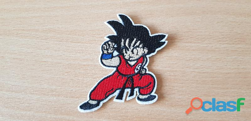 Écusson brodé dragon ball z son goku 6x8 cm thermocollant, pas besoin de couture