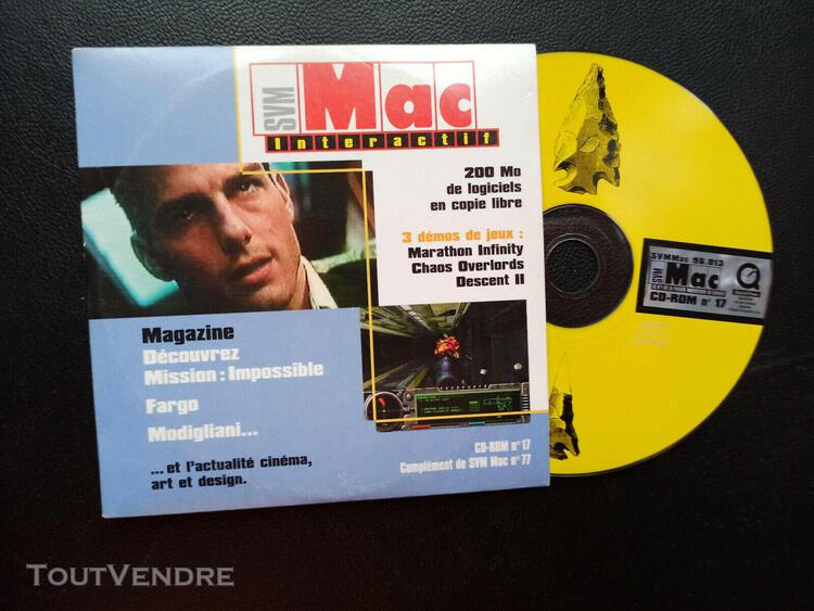 Lot de 9 cd rom vintage apple svm mac interactif voir photo