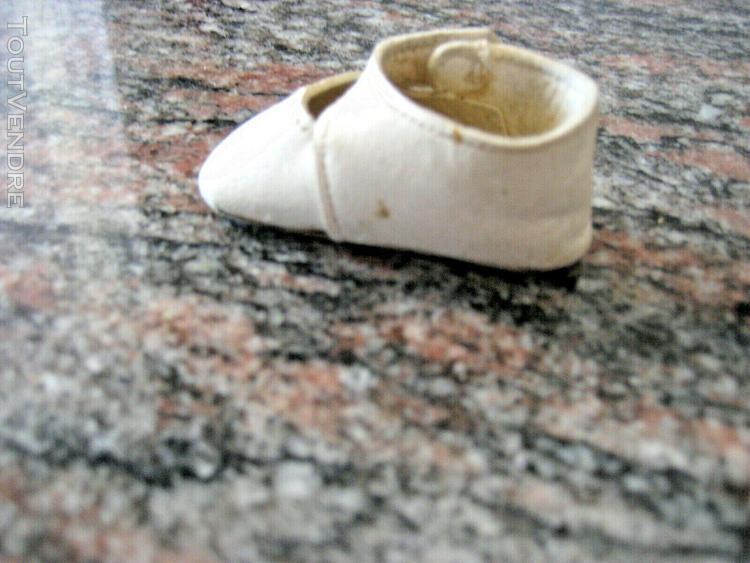 1 ancienne chaussure peau poupée porcelaine jumeau sfbj com
