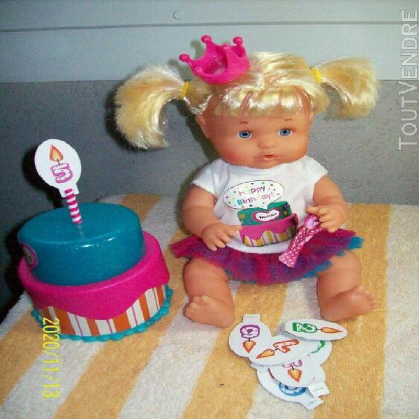 Poupée nénuco famosa happy birthday!