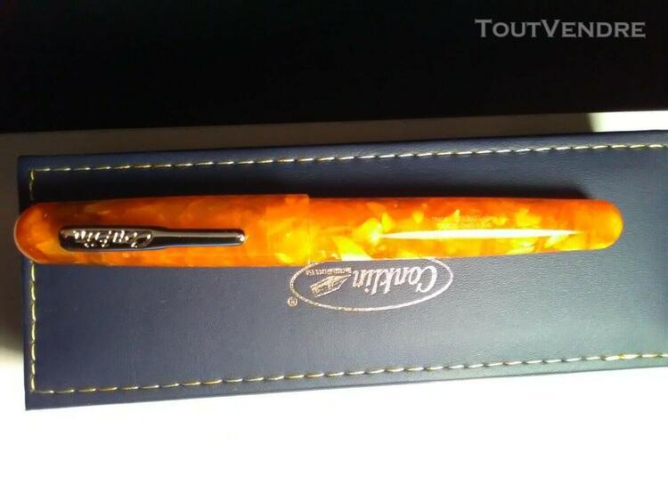 Stylo plume fountain pen conklin all american sunburst orang