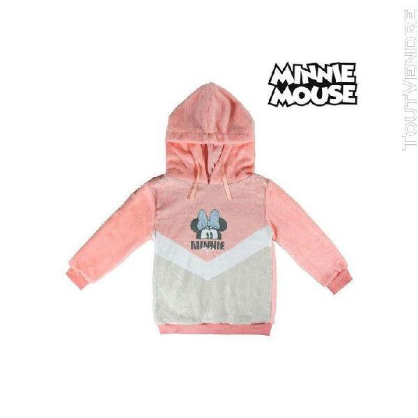Sweat à capuche enfant minnie mouse 74239 rose