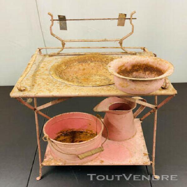 D305___ petit mobilier de salle de bain tole pour poupée