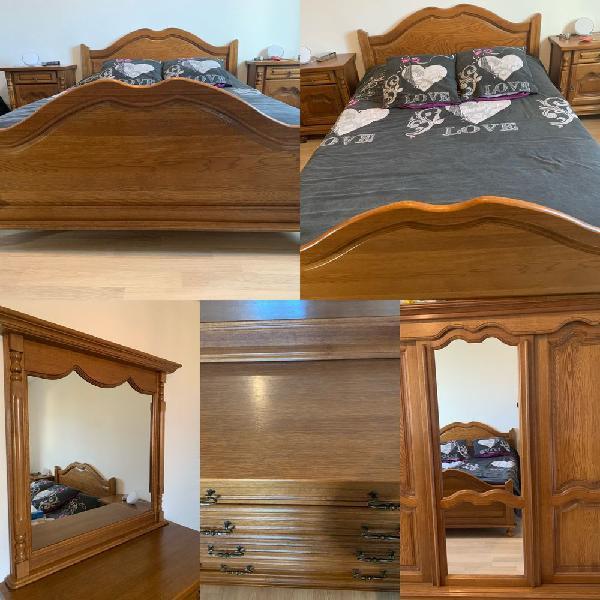 Chambre complète en chêne occasion, rive-de-gier (42800)