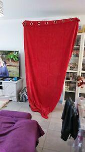 Rideaux velours rouge (140x260cm)