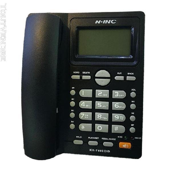Téléphone filaire combiné téléphone fixe creative table