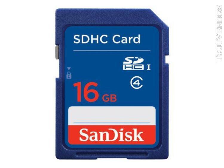 Carte mémoire sandisk sdhc 16 go class 4