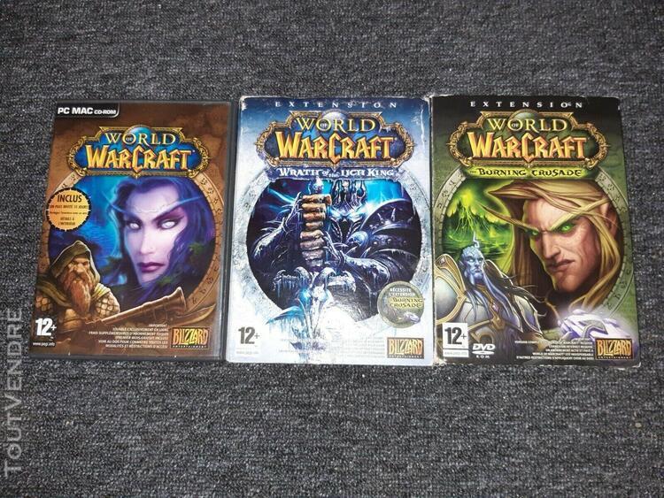 Jeu pc world of warcraft + 2 extensions