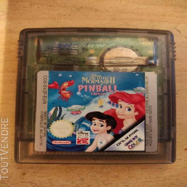 Jeux vidéo - la petite sirène 2 - pinball - game boy color