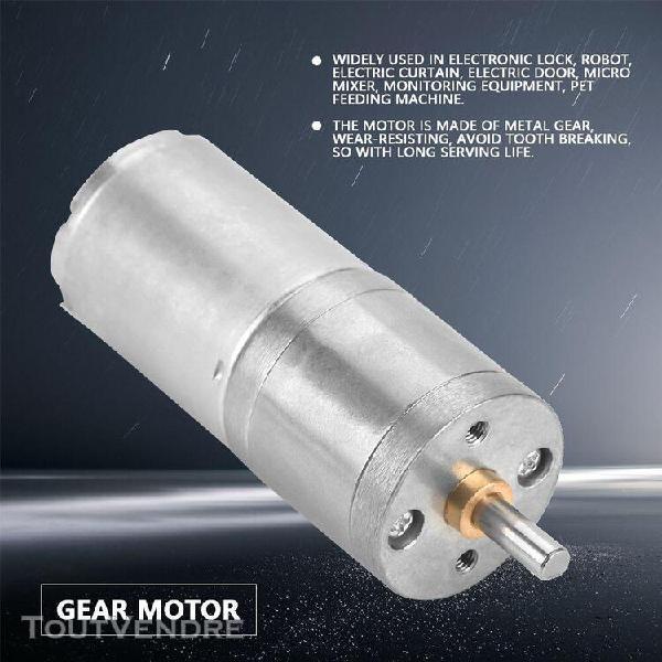 1pcs 25mm dc 12v 25ga-370 moteur à engrenages métalliques