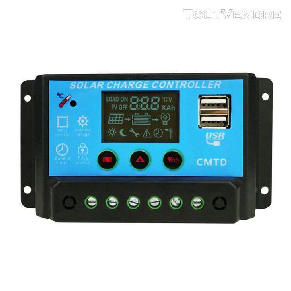 20a lcd automatique de contrôleur de charge solaire 12v 24v