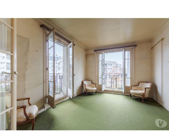 Gobelins appartement de 54m² a rénover sur verdure plein