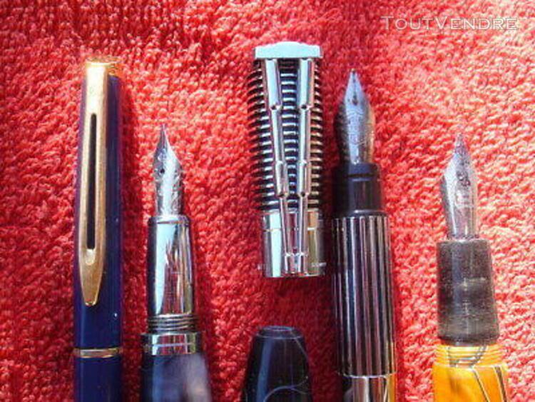 Lot 5 stylo plume fountain pen marques diverses