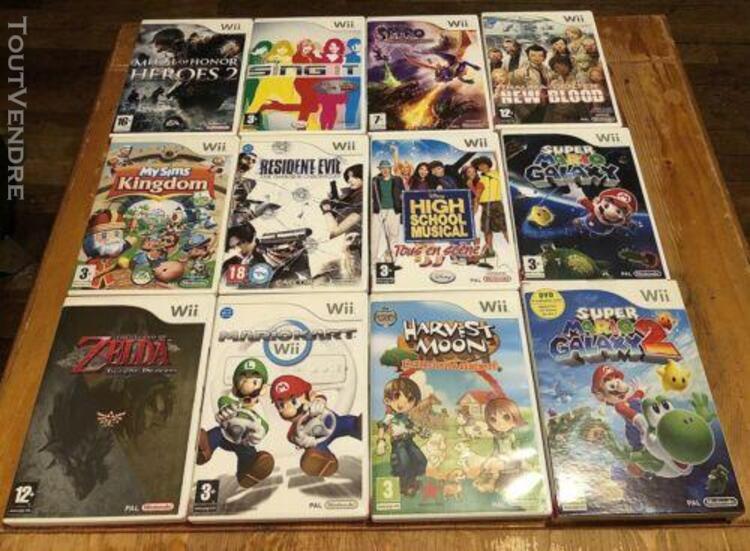 Lot jeux videos nintendo wii