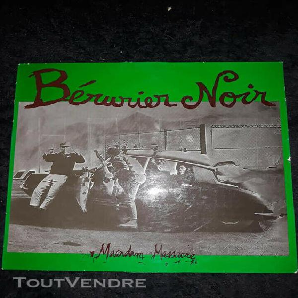 "Lp berurier noir ""macadam massacre"" original pochette"