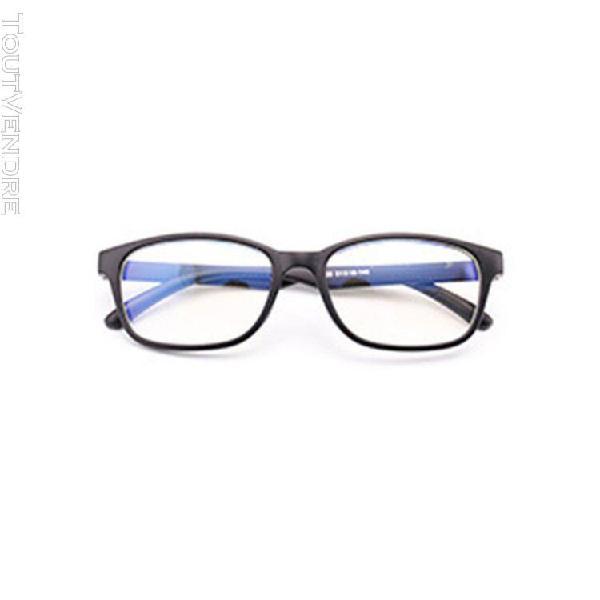 Anti-bleu verres plats lumière jeu informatique lunettes de