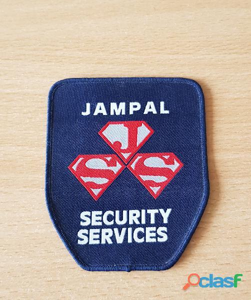 ecusson en tissu Jampal security services 9,5x8 cm à coudre