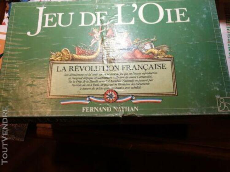 """Jeu de l'oie """"la révolution française"""" nathan 1989.boite d"""