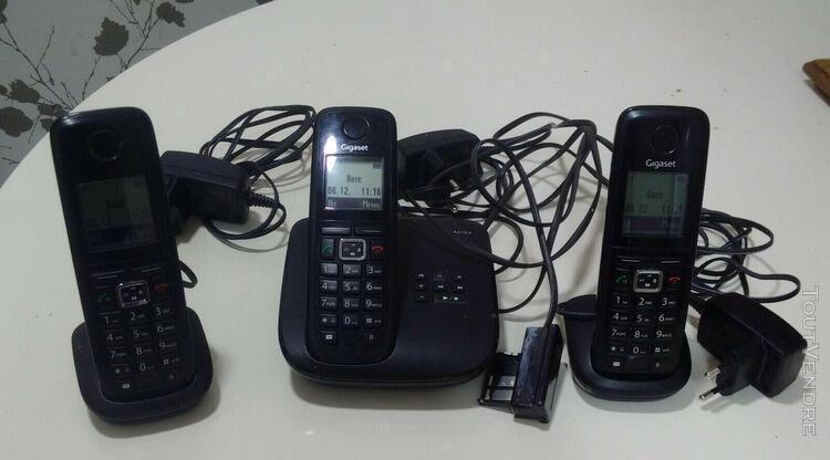 Téléphone répondeur sans fil gigaset a510a trio
