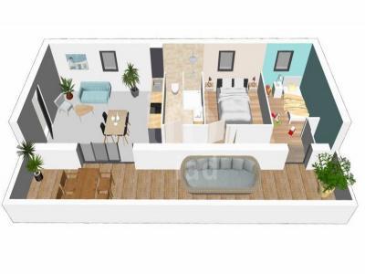 Appartement à vendre agde 3 pièces 59 m2 herault