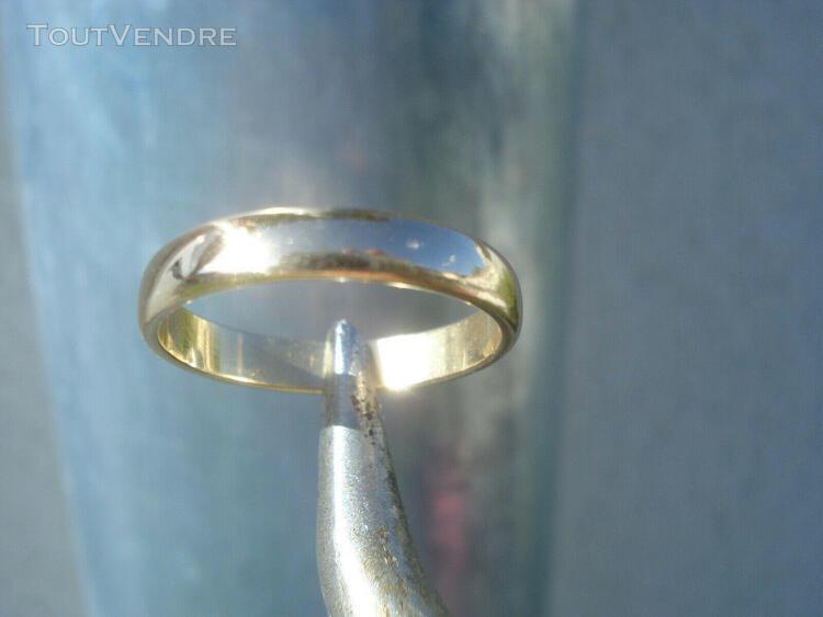 Belle bague alliance / anneau en or jaune 18k 750/1000° / t
