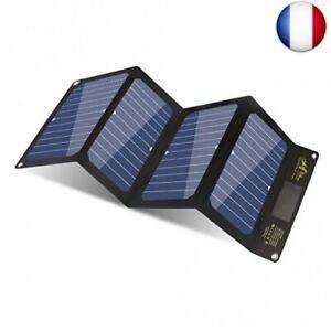Bigblue 24w chargeur solaire mince et léger avec 3 ports