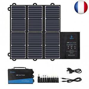 Bigblue panneau solaire portable sunpower, 42w chargeur