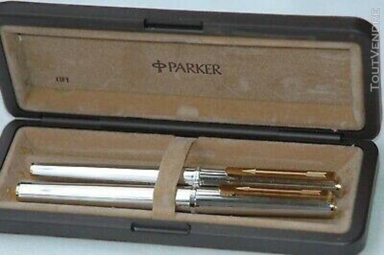 Eceptionnelle parure de stylos parker 85 florence neuf de st