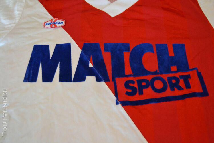Maillot shirt porté vintage as monaco ? match worn foot